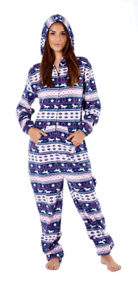 Platinum Fairisle Damen Fleece Overall OVERALL - marineblau
