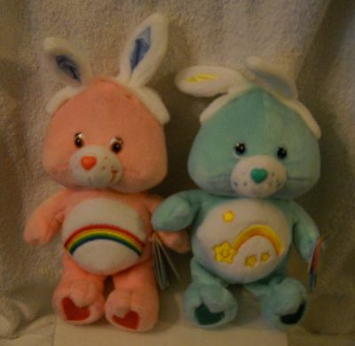 "#5854 NWT Play A Long Target Stores Happy Easter 8"" Cheer & Wish Plush Care Bear"