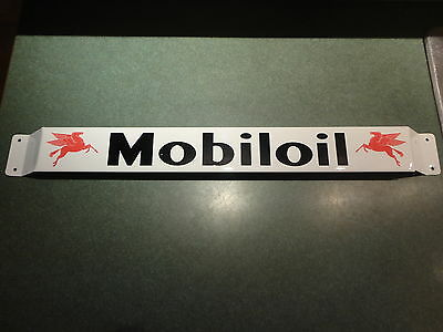 XL 33'' Door pushbar antique vintage MobilOil gasoline advertising White