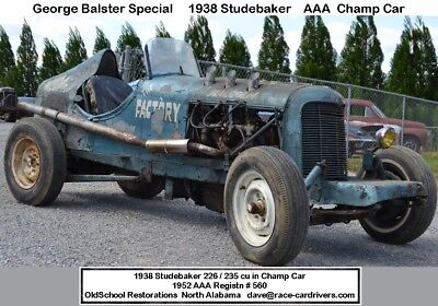 preWar Studebaker 1938 226 cu in Six (235) AAA Sanction Champ Car or Big Car