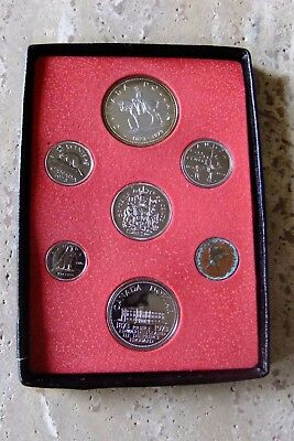 1973 Canada Silver Dollar Seven-Coin Set - MOUNTIE - Proof-Like
