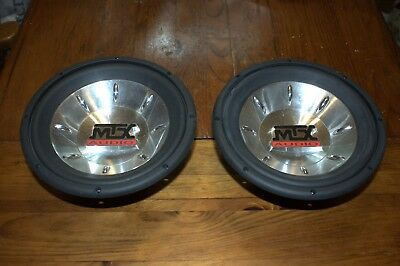 """Pair of MTX Thunder 6000 10"""" Subwoofers - T6104A - Very Nice!"""