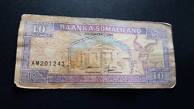 somaliland currency 10 shillings m916
