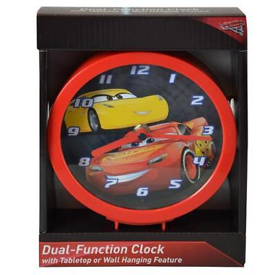 "Disney Cars 3 6"" Desk/ Wall Clock in Open Box"