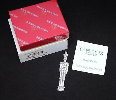 Reed & Barton Sterling Silver Christmas Ornament Classic Toys Soldier 1992