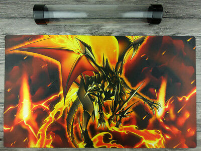YuGiOh Red-Eyes Flare Metal Dragon Custom Playmat Mat Free Best Tube
