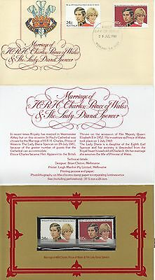2 items:1981 Marriage of Prince Charles & Lady Diana Spencer FDC & Stamp folder