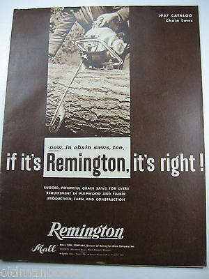 1957 Remington Chainsaw Full Line Sales Catalog Brochure Mall Original
