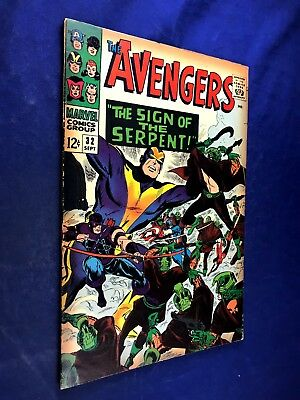 Avengers #32 (1966 Marvel) Serpent appearance Silver Age NO RESERVE