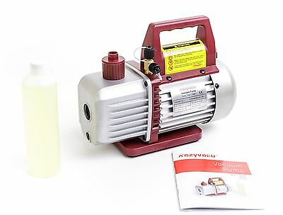 Single-Stage Rotary Vane Economy Vacuum Pump(3.5CFM, 5Pa, 1/4HP) for R134a R410a