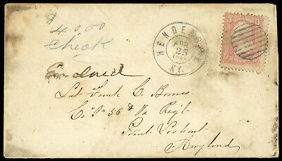 CSA 1864 incoming Prisoner of War Barnes, 56th VA Inf to Point Lookout MD w/ #65