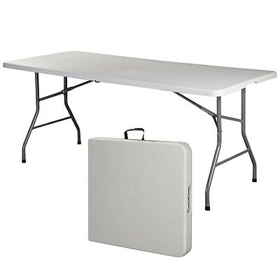 6' Folding Table Portable Indoor Outdoor Picnic Party Dining Camp Tables Utility