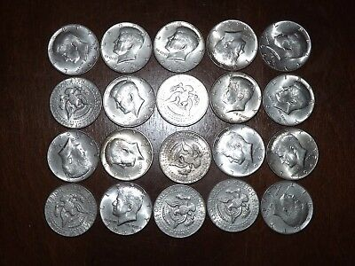Roll Of 1964 Kennedy Half Dollars 90% Silver 20 Coins $10 Face Value Fv 50 Cent