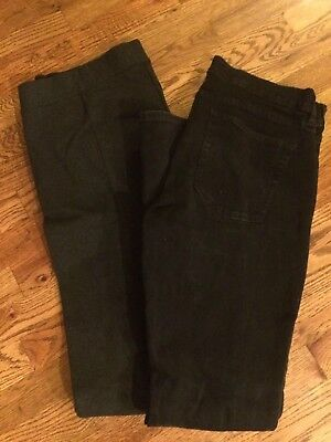 J Crew Lot Maternity Matchstick Jeans Black 32 and Maternity Pixie Pant 14 Gray