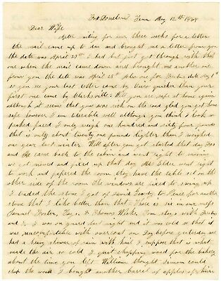 "1864 Fort Donelson Tenn soldier letter, Mil content, Negroes, ""Richmond is Ours"""