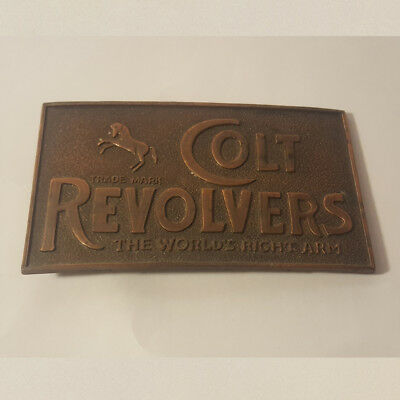 Colt Revolvers Vintage Antique Belt Buckle The Worlds Right Arm