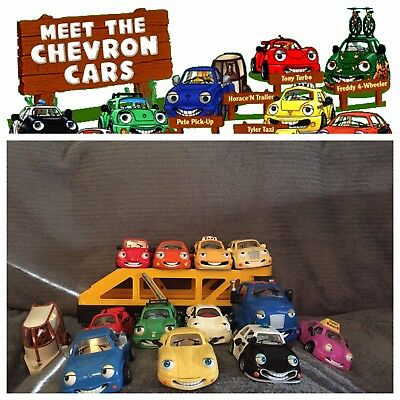 Chevron Techron Collectable Cars (13 including Carey Carrier and Patty Patrol)