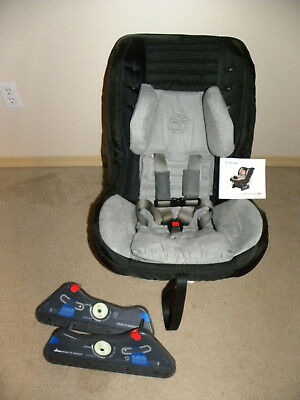 orbit baby G2 black toddler car seat with side braces(EXP 2020)