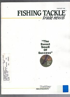 February 1986 Fishing Tackle Trade News Magazine-Berkley Fish Attractants