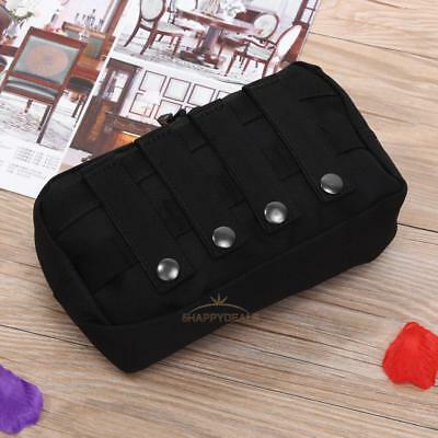 Outdoor 1000D Tactical MOLLE Dual Zipper Pouch EDC Utility Tool Bags Waterproof