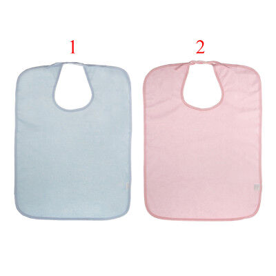 Adult Disability Clothing Protector Eating Mealtime Bib Apron Waterproof