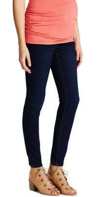 Maternity Jeans JESSICA SIMPSON Secret Fit Belly Skinny Leg Dark Wash Size: S, M