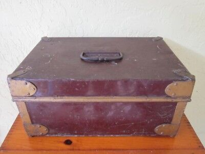 Large Antique Document Toleware Metal Box