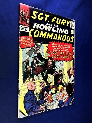 Sgt. Fury and His Howling Commandos #4 (1964 Marvel) Silver Age NO RESERVE