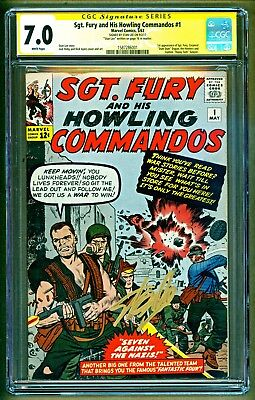 Sgt. Fury and His Howling Commandos #1 1st app Nick Fury Signed Stan Lee CGC 7.0
