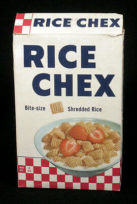 1950s Scarce Vintage Ralston Purina RICE CHEX Breakfast Cereal Box Fine N/R!