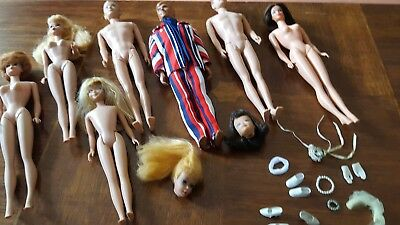 HTF Vintage Barbie & Family Doll and Clothing Lot TLC