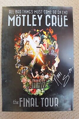 Motley Crue The Final Tour Lithograph Autographed Signed by Nikki Sixx Proof