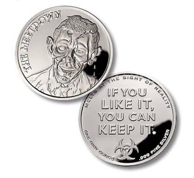 The Obombie - The meltdown  1 oz .999 Silver Proof Round Coin