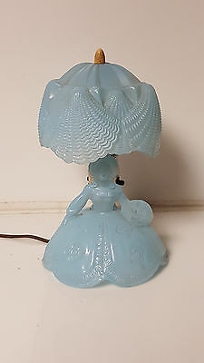 Vintage Glass Lamp Southern Bell Blue