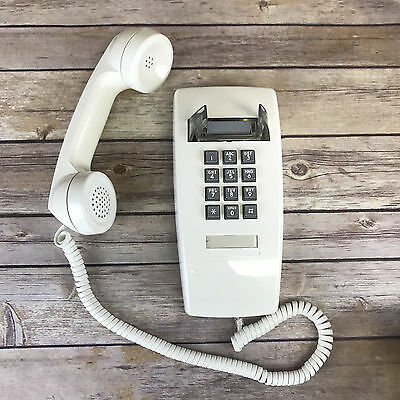 ITT Wall Phone Corded Off-White 255415-MBA-20M Gray Buttons Retro New Open Box