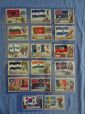 1956 Topps Flags of the World Non-Sports Cards Lot of 17