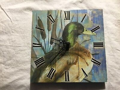 Wall Clock Duck Hunting Camp Cabin Lodge Country Sign