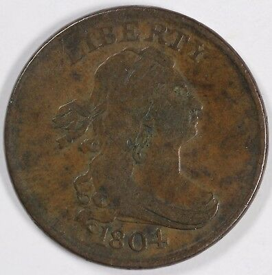 1804 1/2c Draped Bust Half Cent UNSLABBED