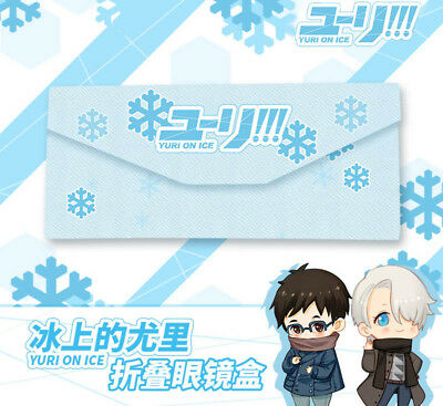 YURI!!! on ICE Anime Portable Foldable Triangular Eye Glasses Sunglasses Case