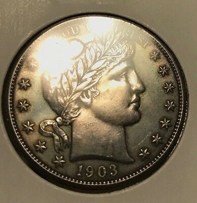 1903 Barber Silver Half Dollar. From Family type set uncirculated