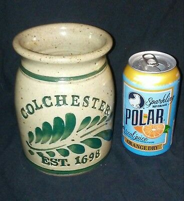 Colchester Ct Connecticut Crock Stoneware Vessel