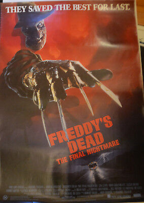 FREDDY'S DEAD: THE FINAL NIGHTMARE -  original Australian movie poster -