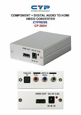 COMPONENT YPbPr/YCbCr + DIGITAL AUDIO TO HDMI VIDEO CONVERTER CYPRESS CP-280H