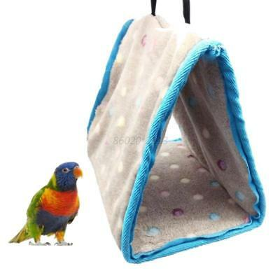 AU S M L Pet Bird Hammock Hanging Cave Cage Parrot Hut Tent Winter Warm Bed Bunk