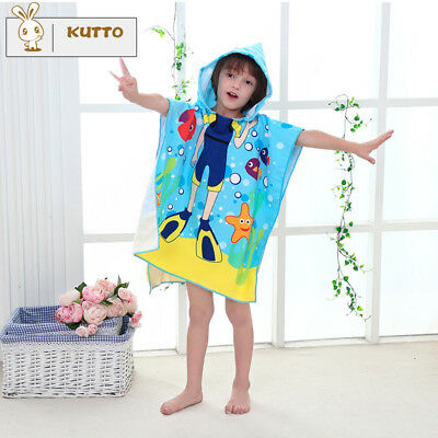DivingMan Kids Infant Bath Towel Baby Cartoon Animal Print Hooded Towel Bathrobe