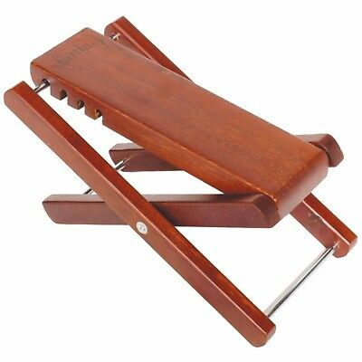 NEW Martinez Adjustable Timber Footstool Foot Rest for Guitar, Bass, Kids
