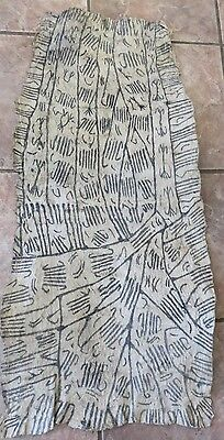 Vintage African, Ituri Pygmy, Zaire Bark Cloth Painting/Estate Purchase