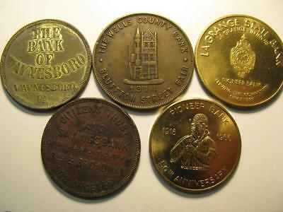 5 Different Bank Tokens Medals #1