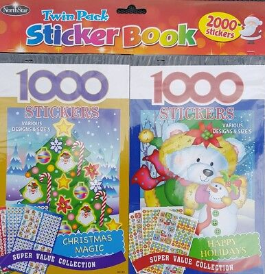 Pack Doble 2000 (2x 1000) Christmas Pegatinas Libros