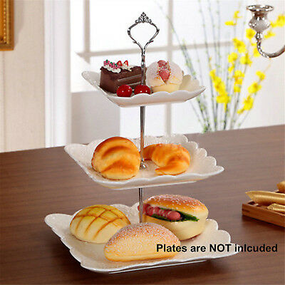 Stainless Steel 3 Tier Cupcake Holder Cup Cake Stand Wedding Party Birthday